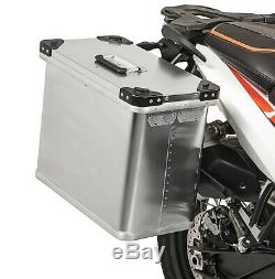 Alu Side cases Gobi 34l and 45l with mounting kit for 16mm luggage carriers