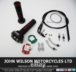 Aprilia RSV 1000 Mille 1998 2003 Domino XM2 Quick Action Throttle Kit Red