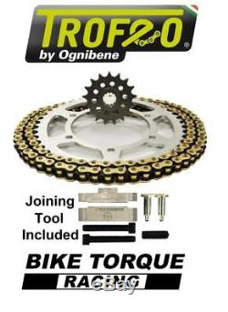 Benelli 899 TNT Cafe Racer 07-10 Trofeo 525 Pitch Chain And Sprocket Kit + Tool