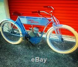 DIY replica Board track racer tribute 80cc antique motorized BICYCLE cafe kit