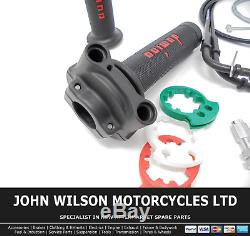Ducati Streetfighter 848 2014 Domino XM2 Quick Action Throttle Kit Red