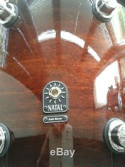 Natal Cafe Racer Drum Kit 18 14 12 Stunning Exotic Burst Finish Immaculate