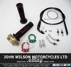 Yamaha XS 250 1977 1981 Gold Domino XM2 Quick Action Throttle Kit Red